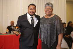 Kidney Honoree Andrew Williams with NBKF's President Lakia Church