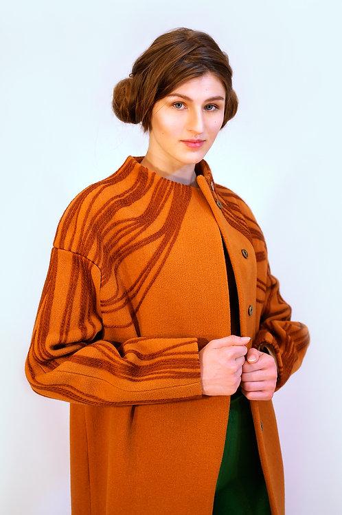 """Пальто. Коллекция """"Vietnam"""". Модель """"Asymmetry""""."""