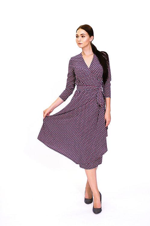 "Платье. Модель ""Rose&Blue"". Коллекция ""Geometry"""