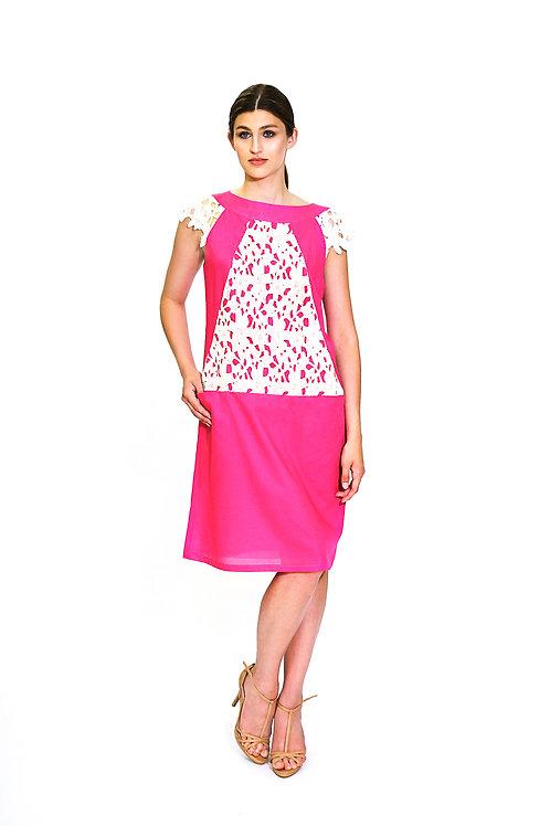 "Платье. Модель ""Pink"". Коллекция ""Geometry"""