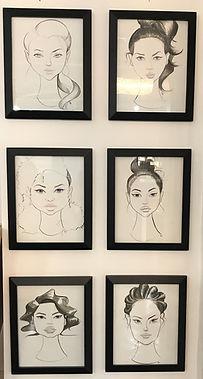 IMA art wall black and white