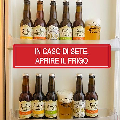 EMERGENZA FRIGO PACK - 10 x 33cl + 2 Bicchieri
