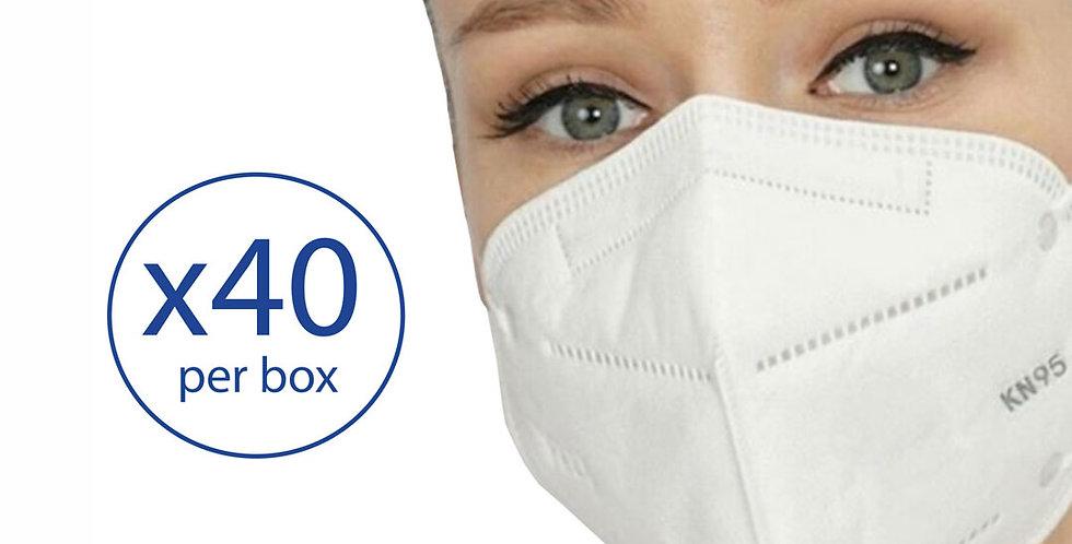 KN95 - 5 layer respirator - 40 masks/ box