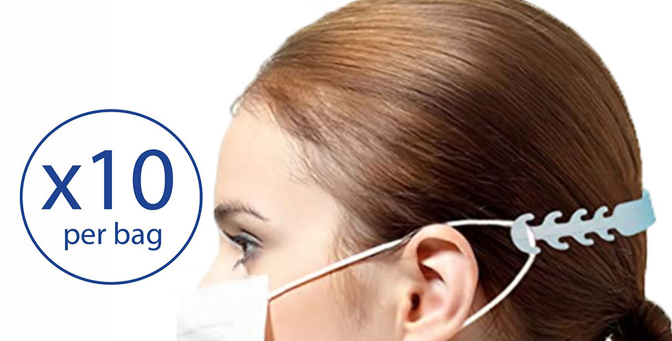 Face Mask Ear Saver Extender - 10 straps/bag