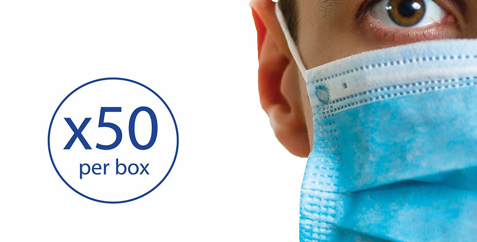 Face mask 3ply - 50 masks/box
