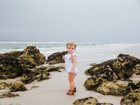 Beach Family Portraits | 2nd Birthday Milestone Photos | Family Photography near St Augustine, FL