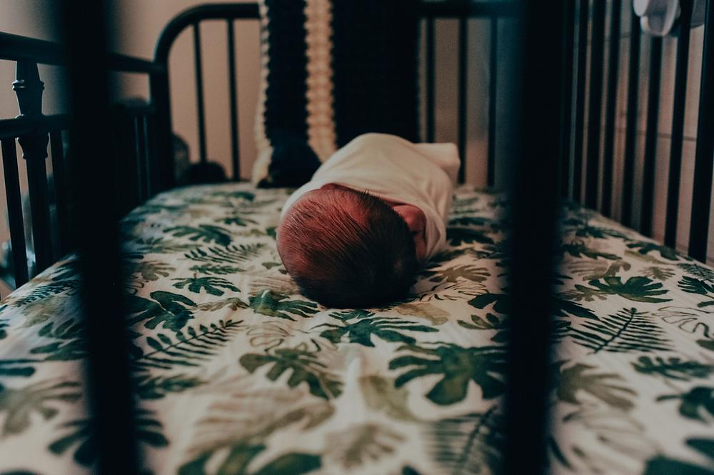 in home newborn photoshoot