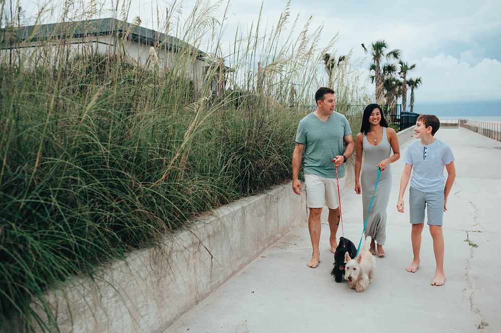 family photography st augustine beach