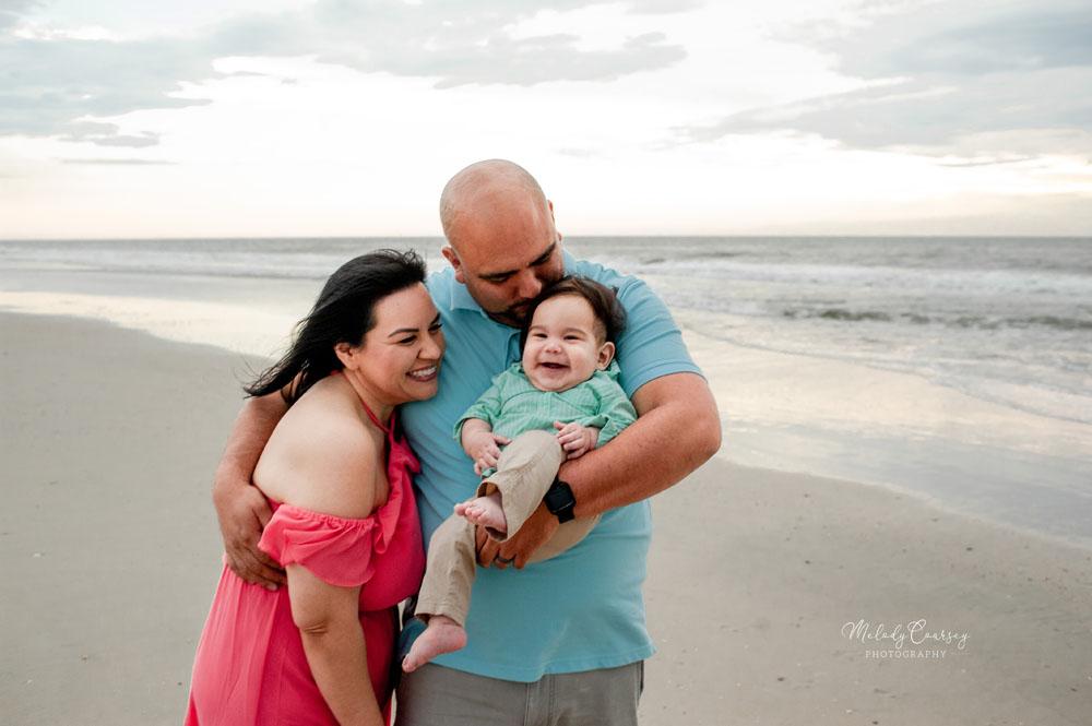 beach family portraits jacksonville