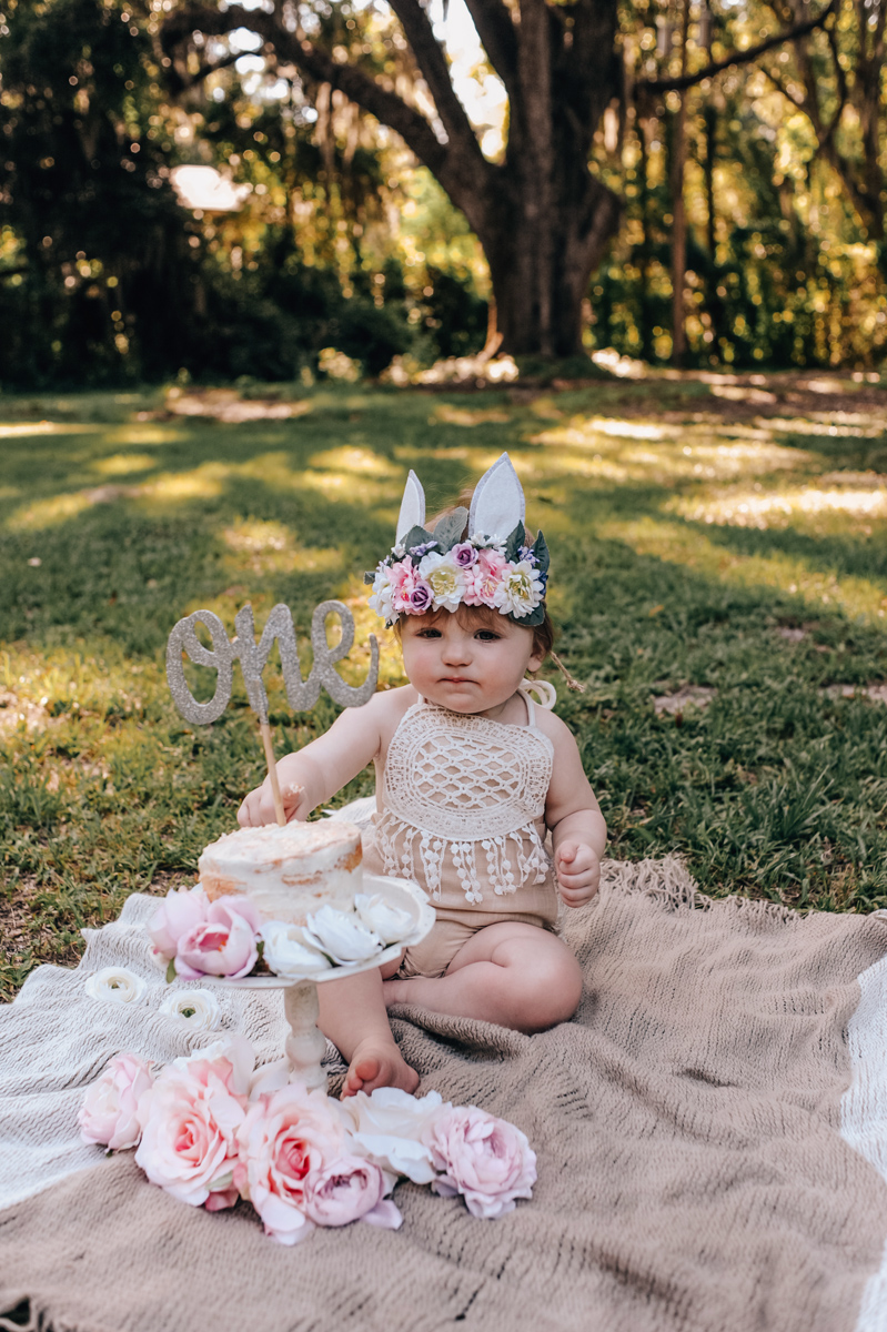 first birthday portraits