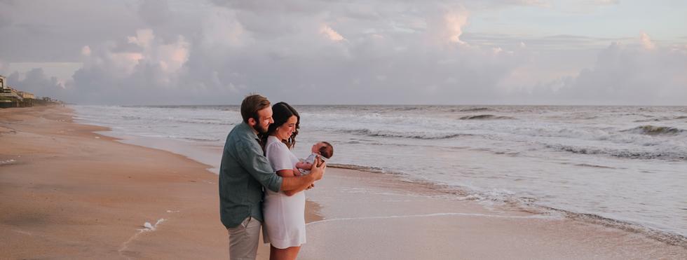 newborn photos at the beach