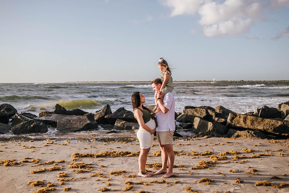 vilano beach fl maternity photography