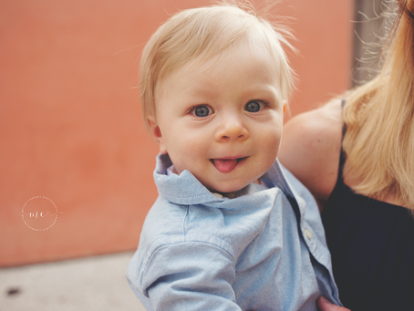 Milestone Portraits | St Augustine, FL Photographer | Family Photographer | Mr. L's 8 Month Mile