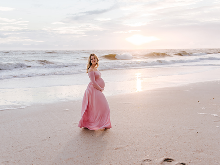Sunrise Maternity Portraits | St Augustine FL Maternity Photographer