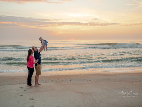 Sunrise Beach Portraits | Jacksonville Family Photographer | Milestone Photography