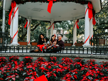 Christmas in our Historic City | St Augustine Christmas Portraits | Family Photographer St Augustine