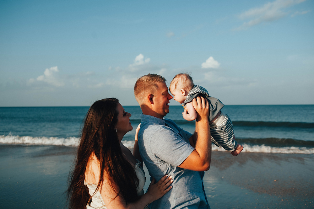 jacksonville family beach portraits