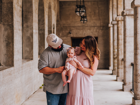 Watch Me Grow | 6 Month Milestone Session | St Augustine FL Family Photographer