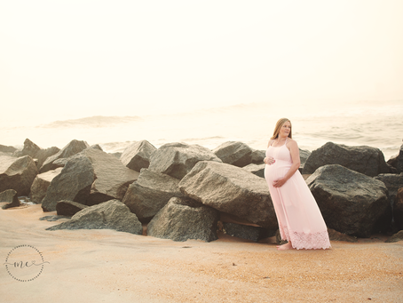 Waiting on Two | St Augustine Maternity Portrait Photographer | Beach Maternity Portraits | Jacksonv
