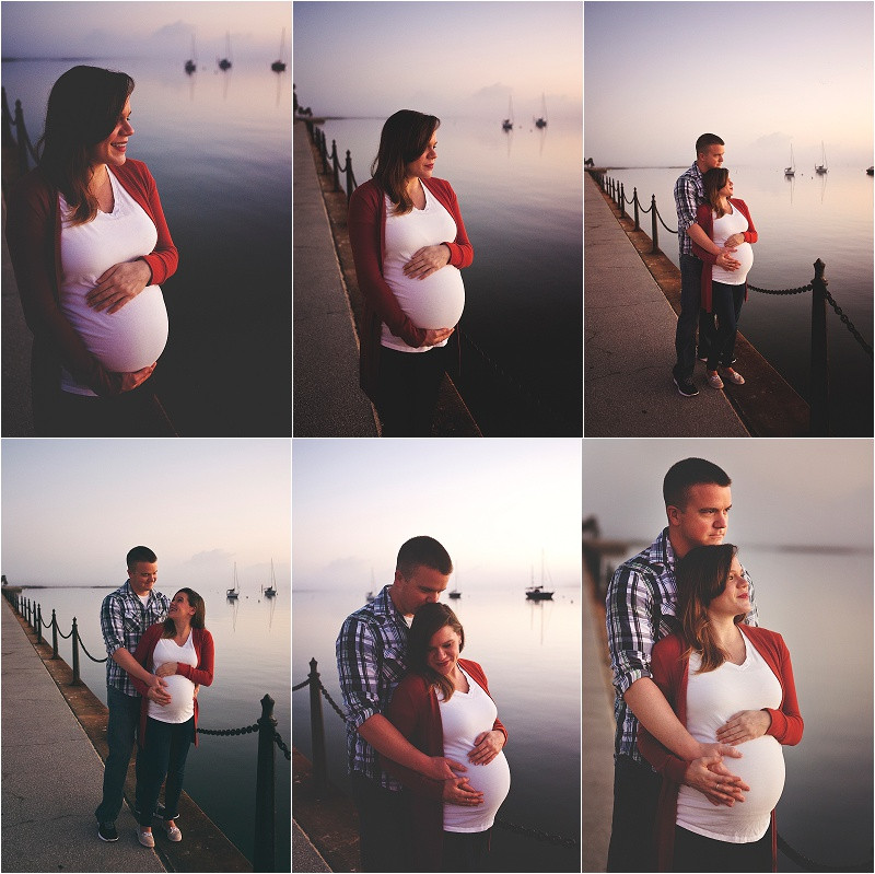 Sunrise Maternity Portraits by the water