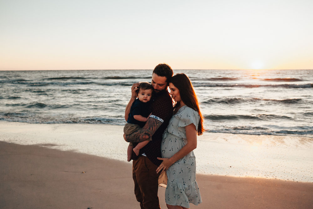 best beach maternity photography