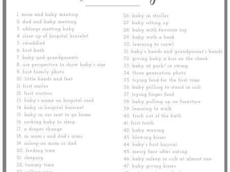 50 Photos to Take During Baby's First Year   Jacksonville FL Photographer