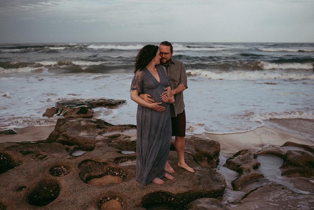 maternity shoot in crecent beach fl