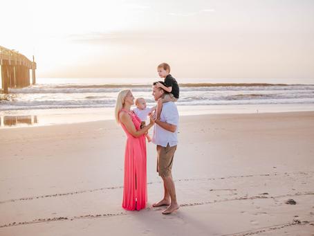 Beach Family Photography in St Augustine Beach, FL