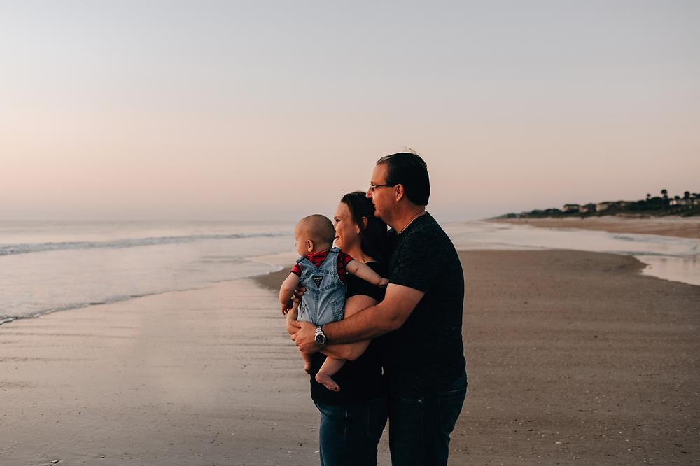 beach sunrise family photography