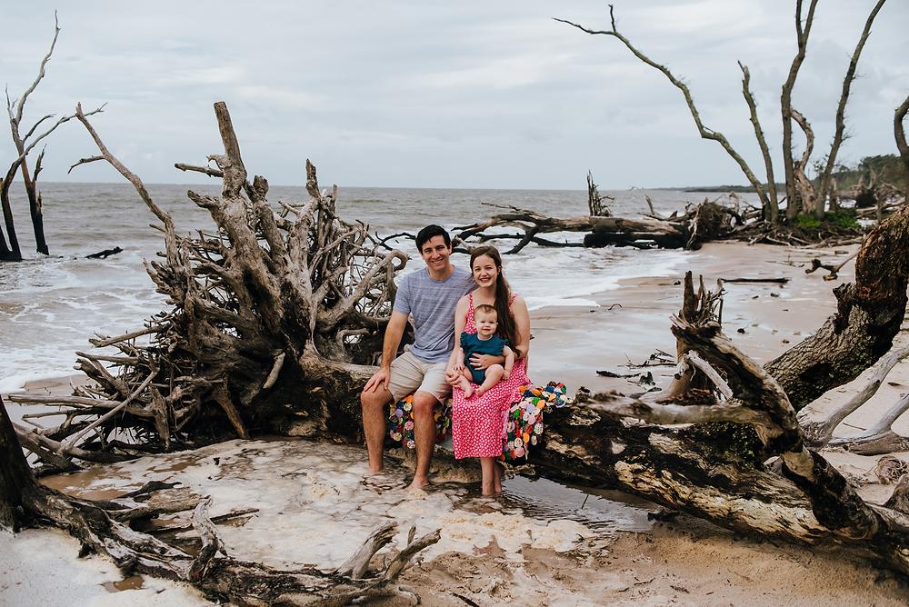 beach family photos in jacksonville fl