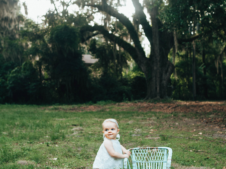 Look Who's One | First Birthday Portraits | Jacksonville Family Photographer