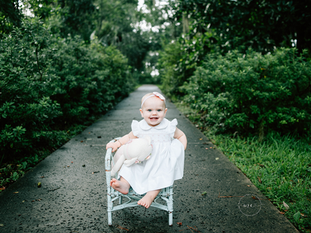 Look Who's One | First Birthday Portraits | Jacksonville FL Family Photographer | First Birthday