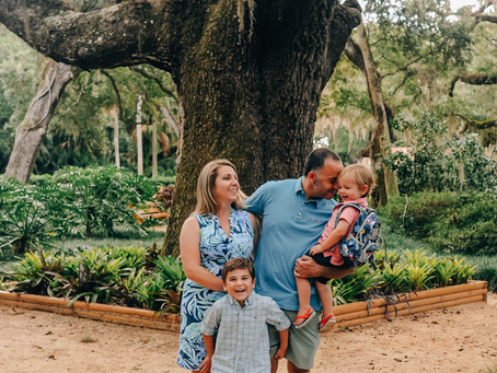 Family Photo Season | Family Photos at Washington Oaks Gardens State Park | St Augustine Family Phot