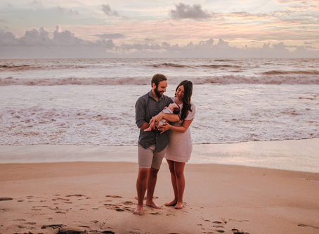 Outdoor Newborn Photography | Sunrise Beach Newborn Photos | Jacksonville FL Newborn Photographer
