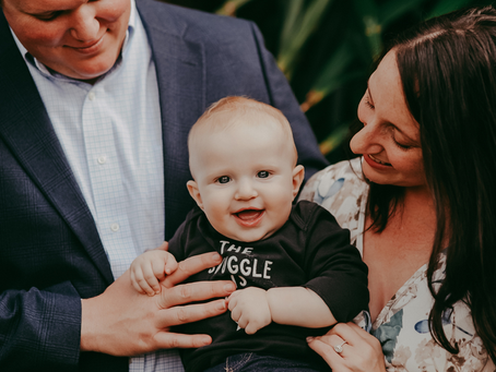 Capturing the Milestones | 6 Month Milestone Portraits | Jacksonville FL Family Photography