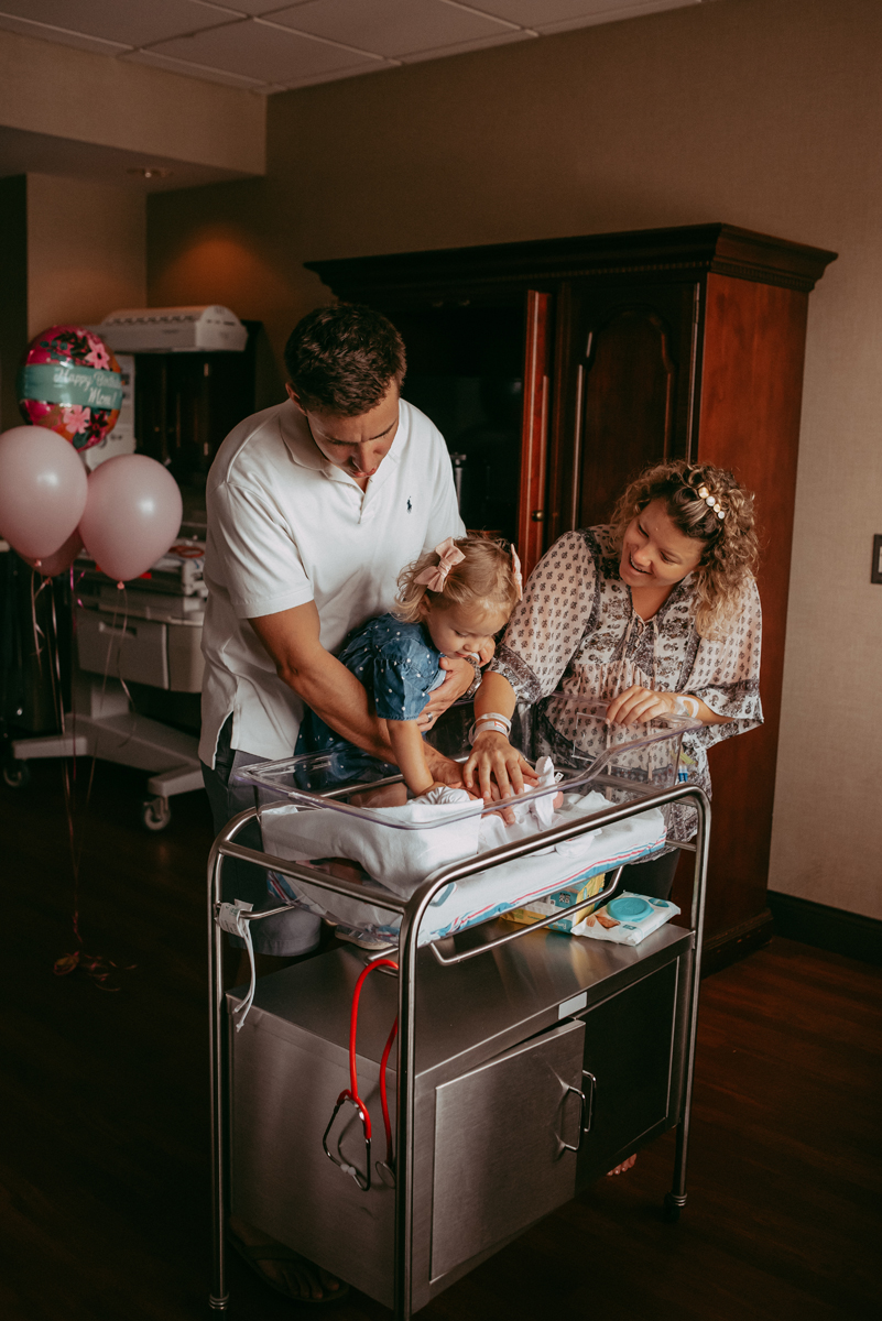 in hospital newborn photography
