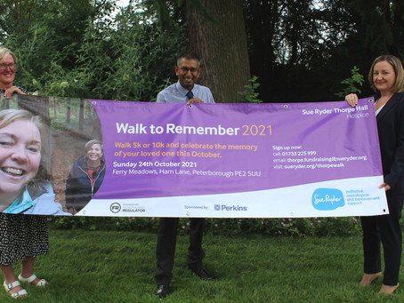 SIGN UP FOR PETERBOROUGH'S WALK TO REMEMBER 2021