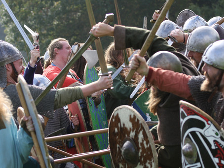 THE VIKINGS ARE SET TO INVADE FLAG FEN