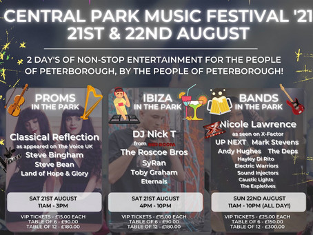 CENTRAL PARK MUSIC FESTIVAL READY TO BRING THE MUSIC BACK TO PETERBOROUGH
