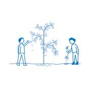 Irrottaa oksia/kasveja