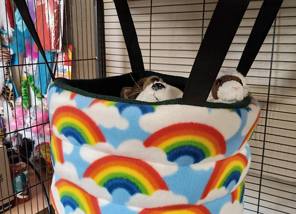 Padded High Snuggly Bed, Rainbows.