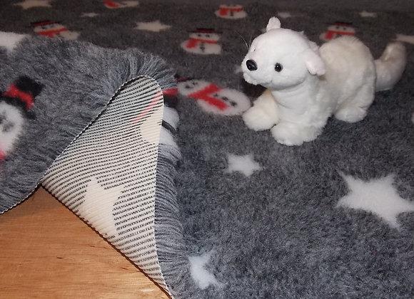 100x75cm None Slip, Grey Snowmen