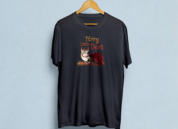 Furry Little Devil, Cotton T Shirt.