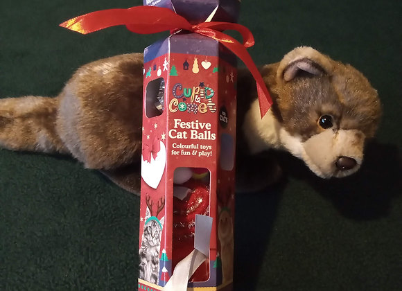 Festive Ferret Toys Cracker, by Rosewood.