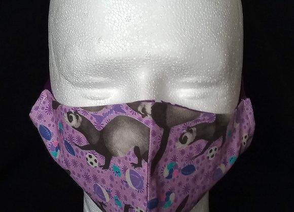 Face Mask, Purple Ferret + Toys