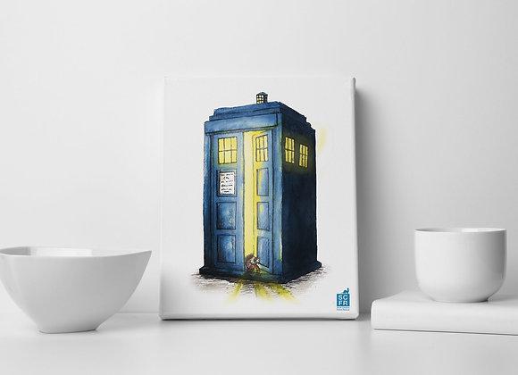 "Dr Who  Ferret8"" x 10"" Canvas Print."