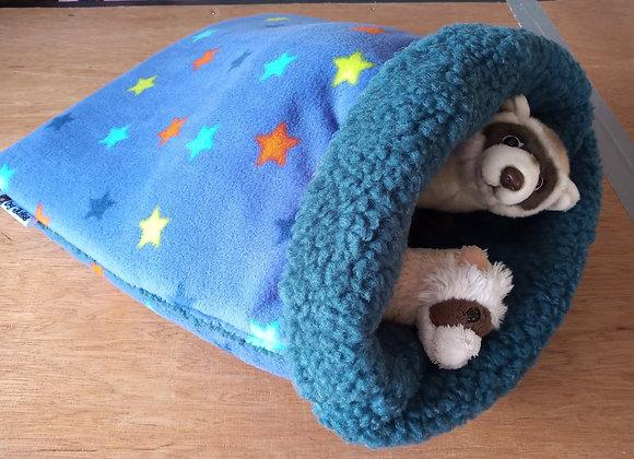 Padded Sleeper Sack, Blue-Violet Stars.
