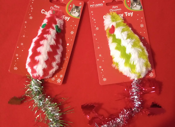 Festive Tinsel Mouse, Red + Green.