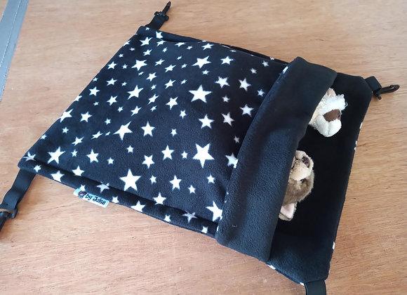 Large Snuggle Sack, Black Stars.