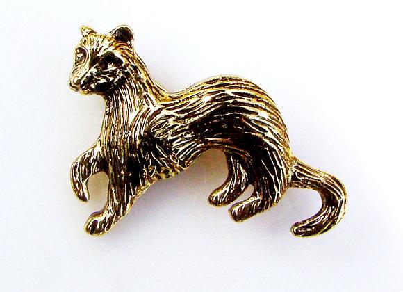 Antique Gold Colour Ferret Broach.